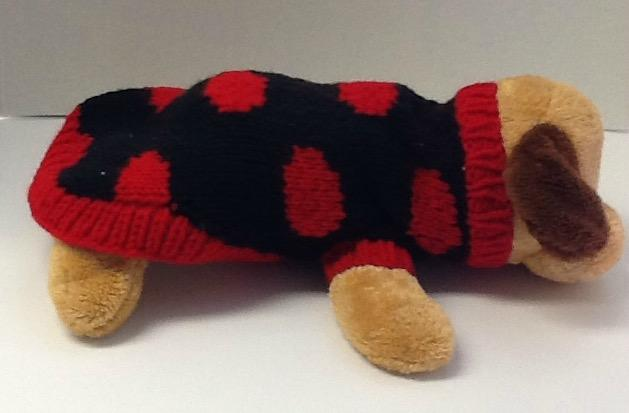 Petite ladybug dog sweater