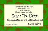 Camo border Save the Date  fun and casual