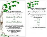 Custom Tree Wedding invitation set  sample set