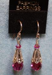 Pink and Silver Dangle Earrings