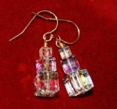 Swarovski Clear Cube Dangle Earrings