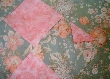 Shabby pink roses Hand M Patchwork Bassinet Throw Chic2
