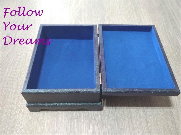 Purple wooden box Santoro Gorjuss girl Gift box Jewelry Box