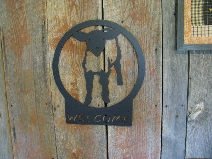 Lamb 7 Welcome Large Metal Farm Wall Yard Art Barn Custom Silhouette