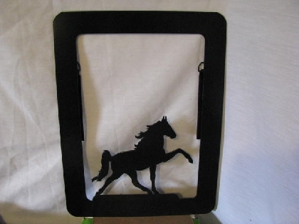 Walking Horse Metal Picture Frame Large