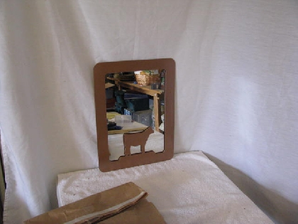 Beef Cattle Livestock Show Awards Frame Large with Mirror