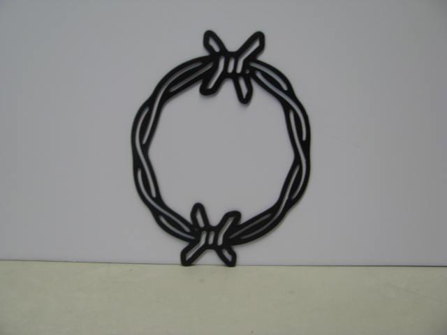 Barbwire 038 Circle ST 2009 Metal Wall Yard Art Silhouetet
