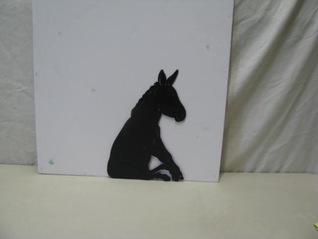 Donkey Sitting ST 2012 Metal Art Silhouette