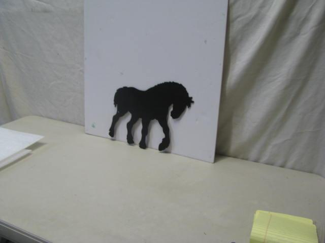 Clydesdale 009 ST 2012 Western Metal Art Silhouette