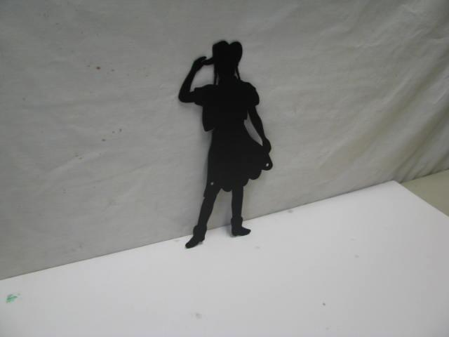 Cowgirl 123 ST 2009 Western Metal Art Silhouette