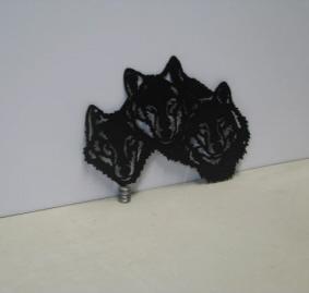 Wolf Trio ST 2012 Metal Art Silhouette