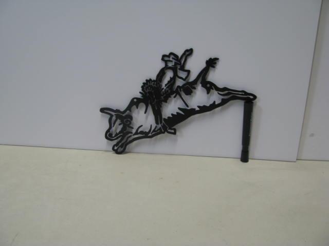Bull Rider ST 2012 Western Metal Art Silhouette