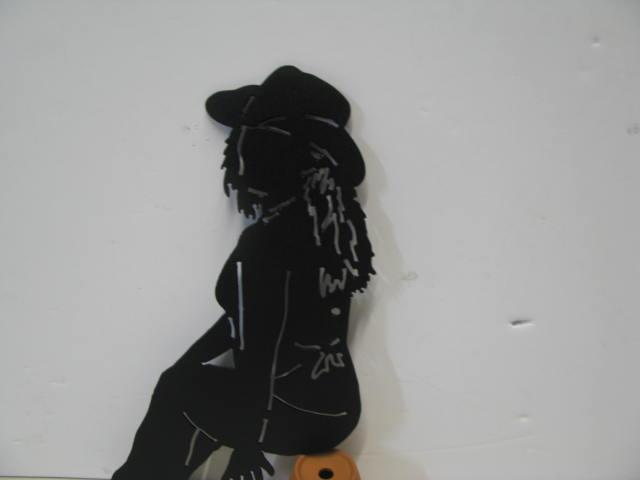 Cowgirl 2 Western Metal Wall Yard Art Silhouette