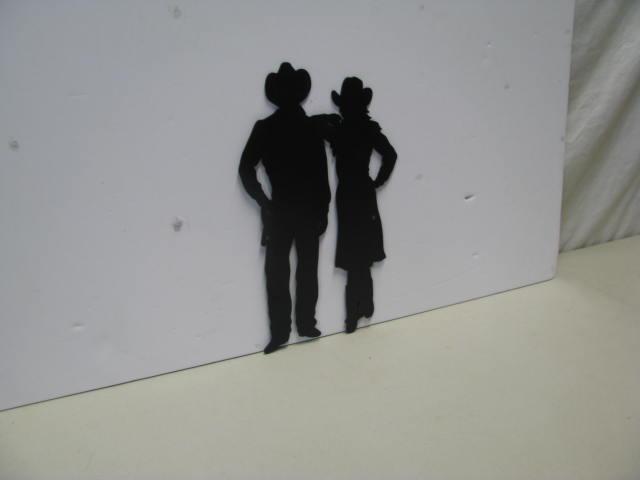 Westen CB Couple ST 2009 Western Metal Art Silhouette