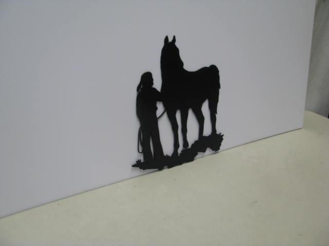 Cowgirl 12 ST SB PR Western Metal Art Silhouette