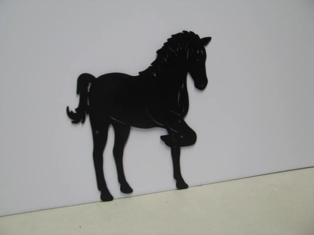 Horse 192 ST 2011 Western Metal Art Silhouette