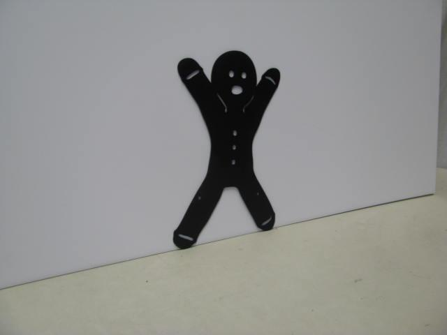 Gingerbread Man 7 ST 2012 Christmas Metal Art Silhouette