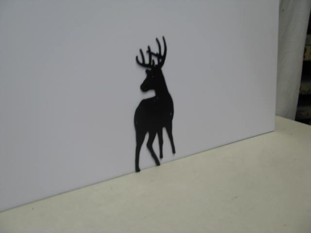 Buck 6 ST SB PR Wildlife Metal Art Silhouette
