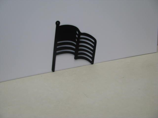 Flag 1 ST SB PR Metal Art Silhouette