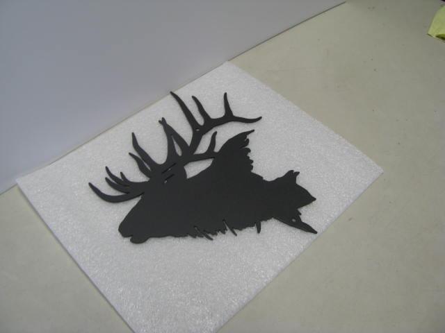 Elk Head 2 ST SB PR Wildlife Metal Art Silhouette