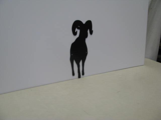 Ram 9A ST SB PR Metal Art Silhouette