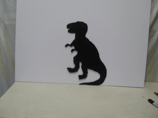 TRex Dinosaur Metal Art Silhouette