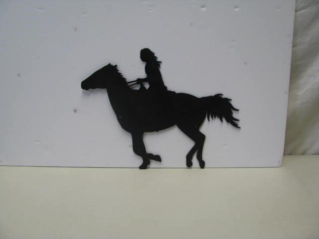 Horse Rider Western Metal Wall Art Silhouette