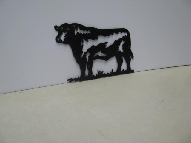 Bull 018 ST 2010 Farm Metal Art Silhouette