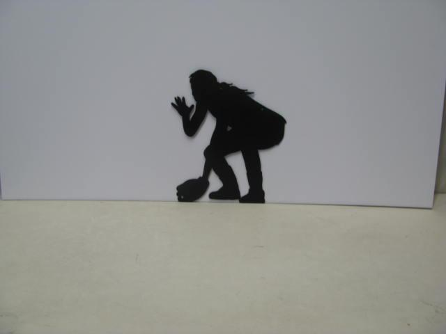 Girl Playing Softball ST 2010 Sports Metal Art Silhouette