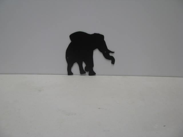 Elephant 3 ST P Shadow Metal Art Silhouette
