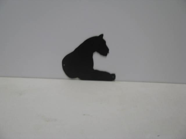 Tiger 5 ST P Shadow Wildlife Metal Art Silhouette