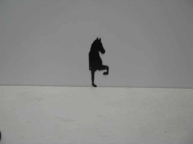 Horse 190 ST 2010 P Shadow Wildlife Metal Art Silhouette
