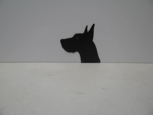 Great Dane Head 001 ST 2012 P Shadow Wildlife Metal Art Silhouette