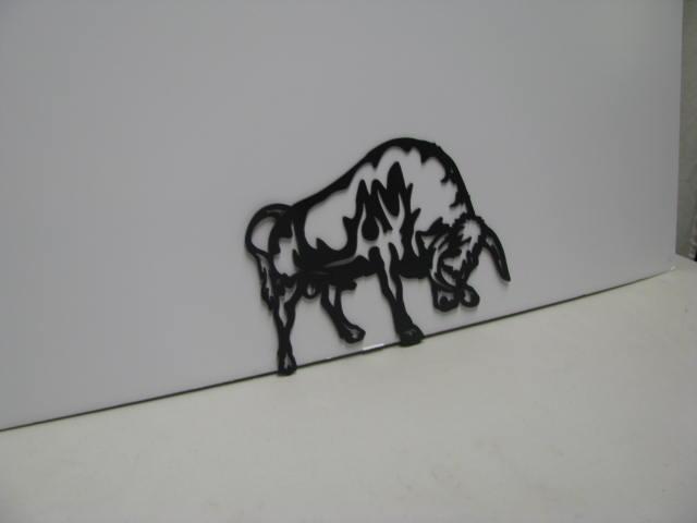Bull Metal Wall Yard Art Silhouette