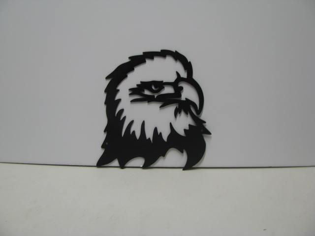 Eagle Head 001 Metal Wall Yard Art Silhouette
