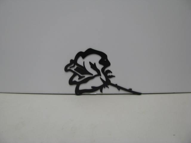 Rose 003 Metal Wall Yard Art Silhouette