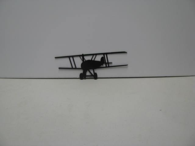 Biplane 001A Metal Wall Yard Art Silhouette
