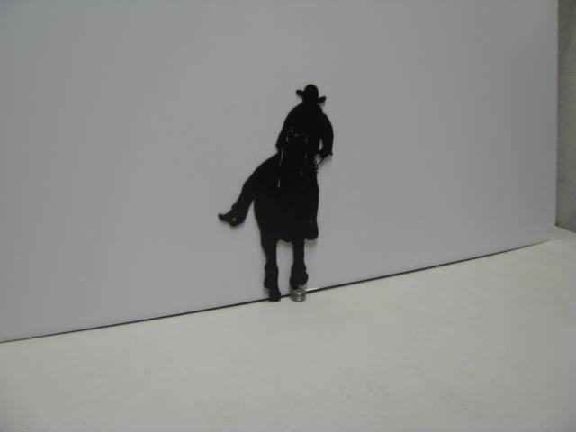 Horse Rider 034 Western Metal Wall Yard Art Silhouette