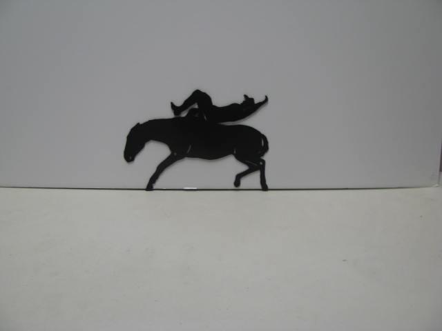 Rodeo 003 Western Metal Wall Yard Art Silhouette