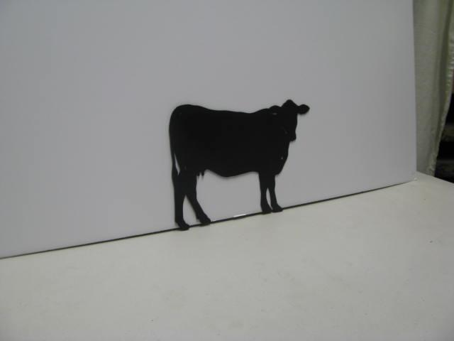 Cow 024 Western Metal Wall Yard Art Silhouette