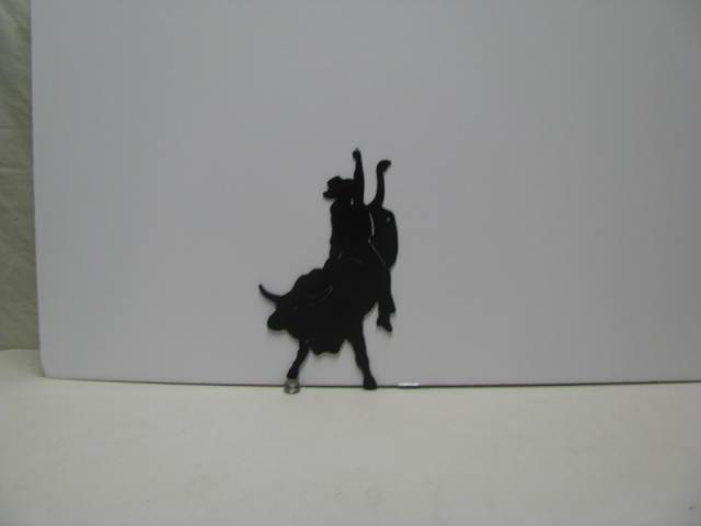 Bull Rider 001 Western Metal Wall Yard Art Silhouette