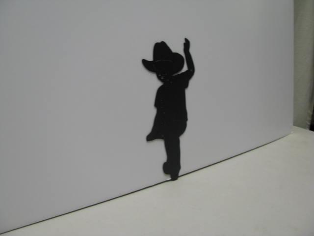 Cowboy 005 Western Metal Wall Yard Art Silhouette