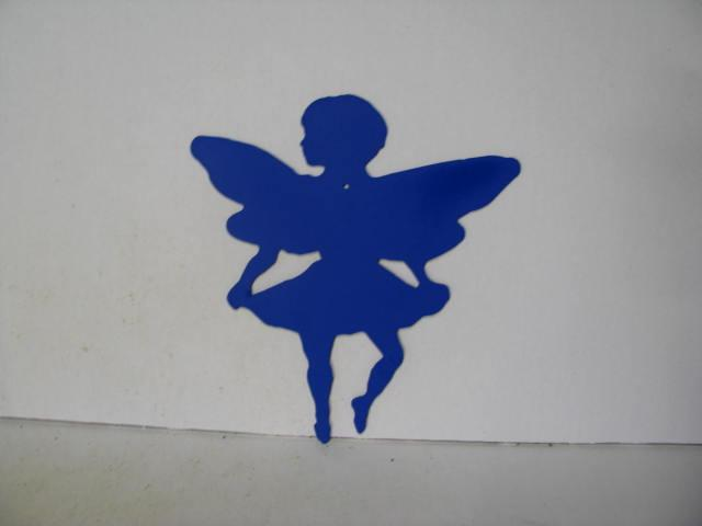 Fairy B Metal Wall Yard Art Silhouette