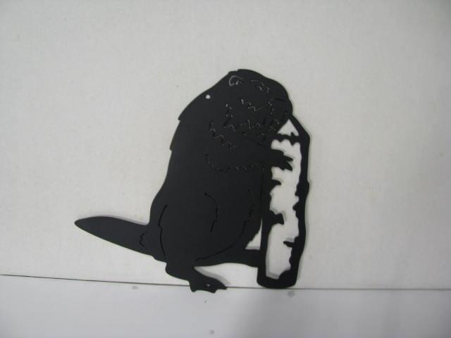 Beaver 451 Metal Wildlife Wall Yard Art Silhouette