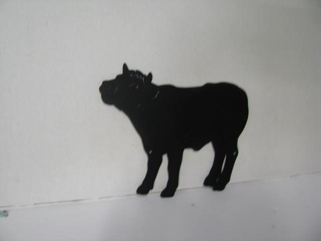 Bull Calf Metal Wildlife Wall Yard Art Silhouette