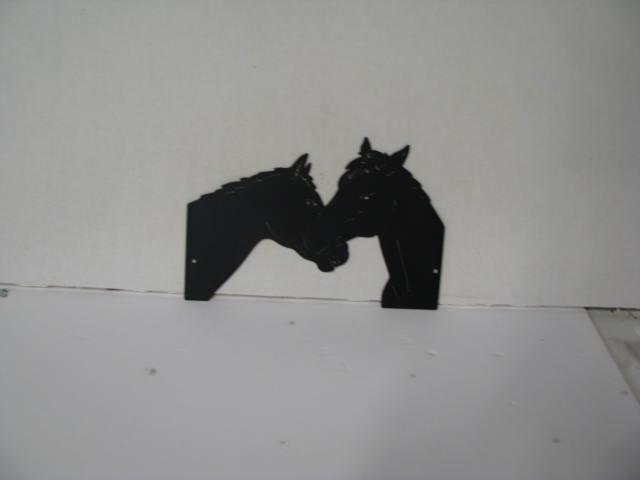 Horse Pair 180 Metal Wildlife Wall Yard Art Silhouette