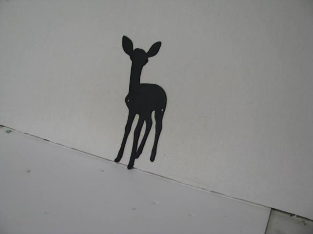 Deer Fawn 176 Metal Wildlife Wall Yard Art Silhouette
