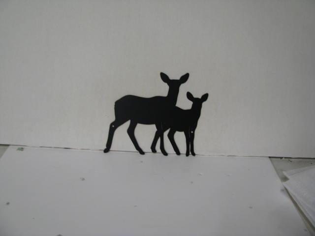 Deer Pair 300 Metal Wildlife Wall Yard Art Silhouette