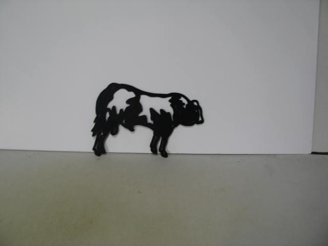 Black Berry Bull Metal Wildlife Farm Wall Yard Art Silhouette