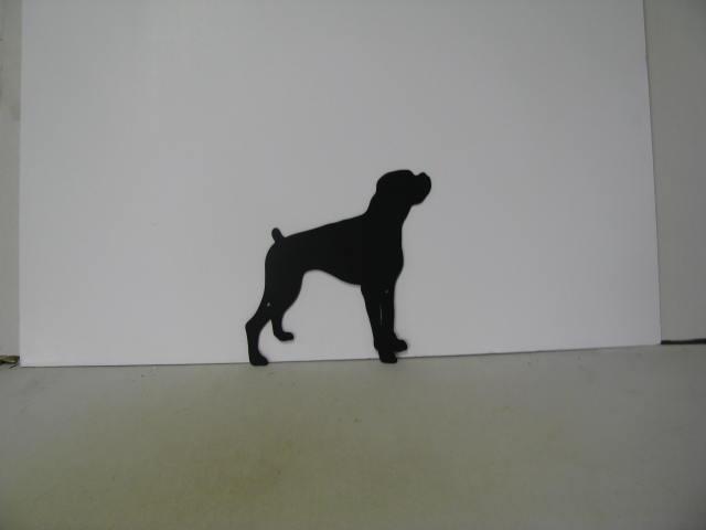 Boxer Metal Wildlife Farm Wall Yard Art Silhouette